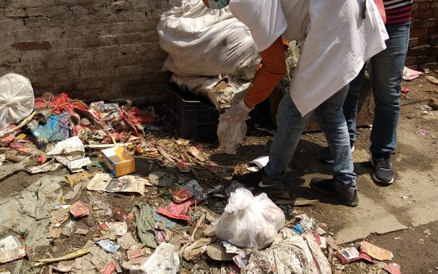 waste collected from the periphery of hospital in Kathmandu, Nepal by Satya Raj Paudel and Bivek Timalsina